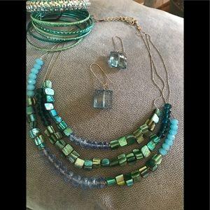 💚💙💚💙 Necklace Earring Bracelet Bundle 💚💙💚💙